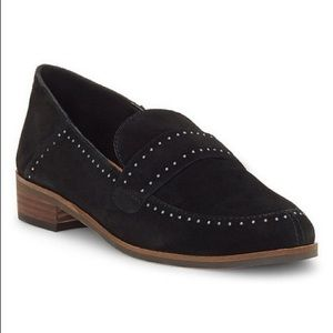 Lucky Brand Crestan Black Suede Loafers | Size 5.5